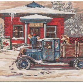 Набор для вышивания  Bucilla 45964 Rural Post Office at Christmas