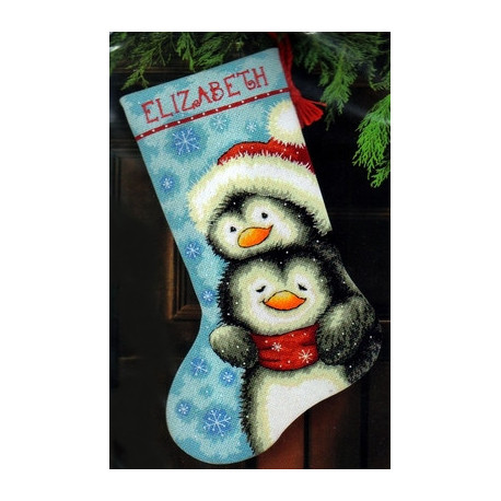 Набор для вышивания Dimensions 71-09144 Hugging Penguins фото