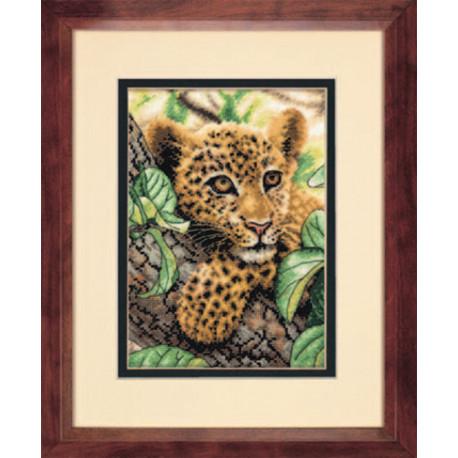 Набор для вышивания Dimensions 70-65118 Leopard Cub фото
