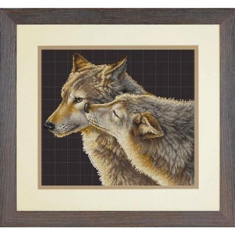 Набор для вышивания Dimensions 70-35283 Wolf Kiss фото
