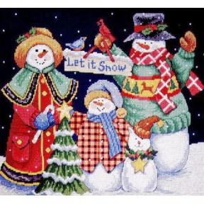 Набор для вышивания крестом Classic Design Пусть идет снег! 4380