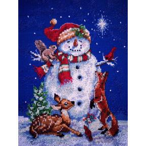 Набор для вышивания крестом Classic Design Снеговик 4383