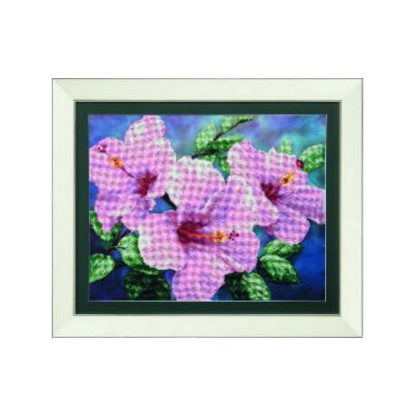 Набор для вышивки бисером Чарівна Мить Б-722 Гибискус розовый
