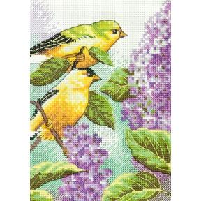 Набор для вышивки крестом Dimensions 70-65153 Goldfinch and Lilacs