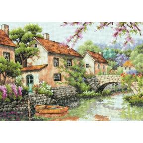 Набор для вышивки крестом Dimensions 70-35330 Village Canal