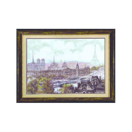 Набор для вышивки крестом Чарівна Мить М-70 Париж фото