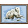 Набор для вышивки крестом Риолис 1033 Белые Медведи фото