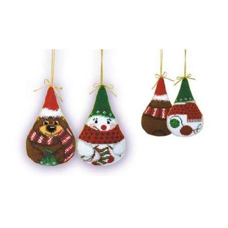 Набор для вышивки крестом Риолис 927 Новогодние игрушки фото