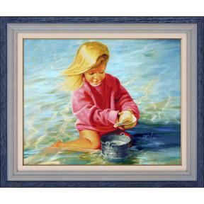 Набор для рисования камнями 5D-048 Lasko Девочка у моря