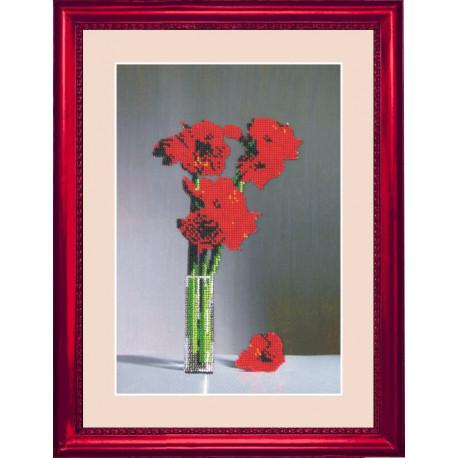 Набор для вышивания бисером Butterfly 203 Цветы в стакане фото
