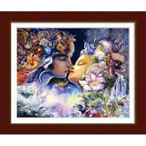 Набор для рисования камнями алмазная живопись Dream Art Прелюдия к поцелую (круглые камни, частичная) 10001D