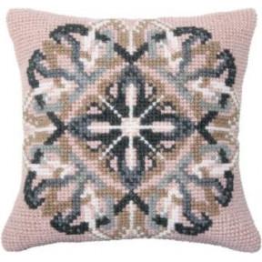 Набор для вышивки подушки Чарівна Мить РТ-183 Розовый орнамент