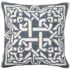 Набор для вышивки подушки Чарівна Мить РТ-175 Серый орнамент