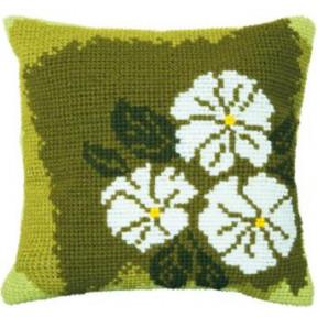 Набор для вышивки подушки Чарівна Мить РТ-173 Белые цветы