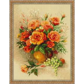 Набор для вышивки крестом Риолис 100/049 Чайные розы фото