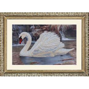 Набор для вышивания бисером Butterfly 502 Лебедь