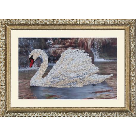 Набор для вышивания бисером Butterfly 502 Лебедь фото