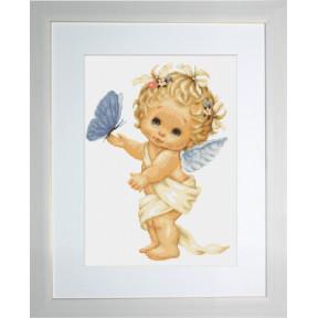 Набор для вышивки гобелена Luca-S G368 Ангелочек с бабочкой