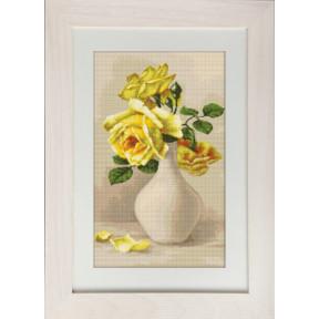 Набор для вышивки гобелена Luca-S G508 Жёлтые розы в вазе
