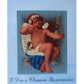 Набор для вышивания открытки бисером Butterfly 724 Амур
