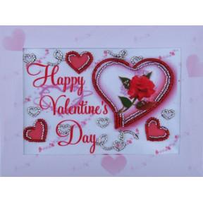 Набор для вышивания открытки бисером Butterfly 721 Валентинка
