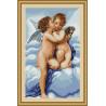 Набор для вышивки крестом Luca-S Первый поцелуй B317 фото