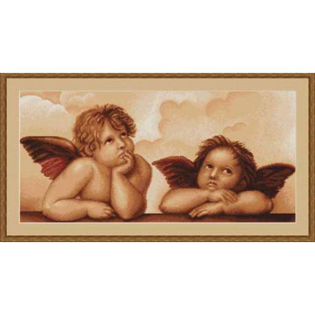Набор для вышивки крестом Luca-S Ангелочки B319 фото