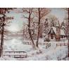 Набор для вышивки крестом Luca-S Зимний пейзаж B321 фото