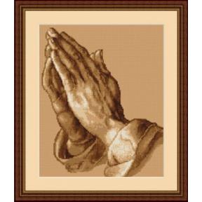 Набор для вышивки крестом Luca-S  Руки молящего B350