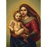 Набор для вышивки крестом Luca-S Сикстинская Мадонна B419 фото
