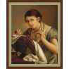 Набор для вышивки крестом Luca-S Кружевница B427 фото