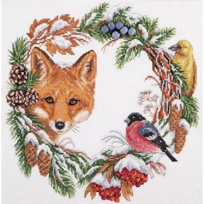 Набор для вышивки крестом Panna ПС-1775 Зимний венок