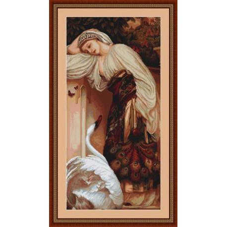 Набор для вышивки крестом Luca-S Одалиска B430 фото