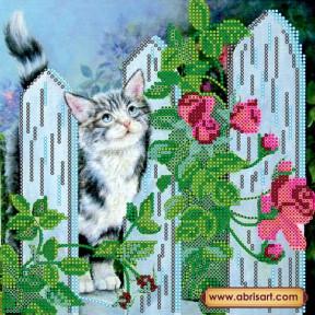 Схема для вышивания бисером Абрис Арт АС-488 Мартовский кот