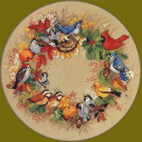 Набор для вышивания крестом Classic Design Осенний венок 4386