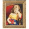 Набор для вышивки Золотое Руно МК-008 Девочка с куклой фото