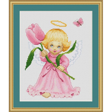 Набор для вышивки крестом Luca-S Цветочек для мамы B193 фото