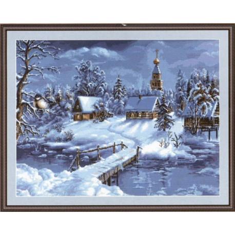 Набор для вышивки крестом Luca-S Зимний пейзаж B447 фото