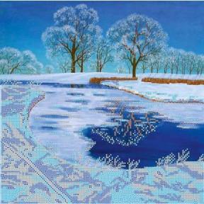 Схема для вышивания бисером Абрис Арт АС-246 Хрустальное озеро