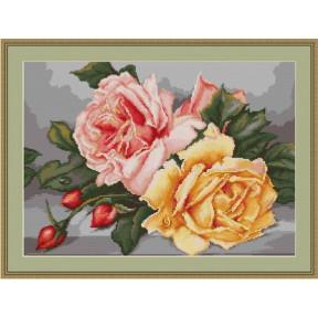 Набор для вышивки крестом Luca-S  Розы B485