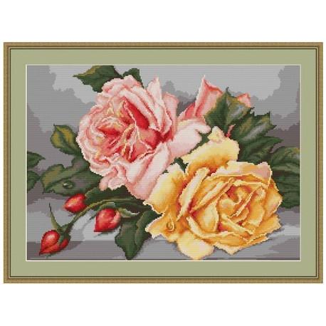 Набор для вышивки крестом Luca-S Розы B485 фото
