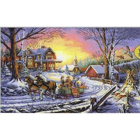 Набор для вышивки крестом Dimensions 35208 Pleasures Of Winter