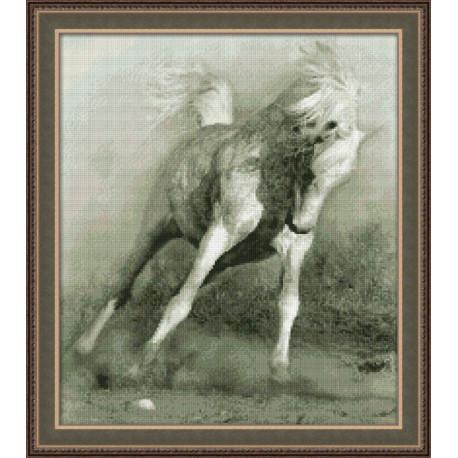 Набор для вышивки крестом Юнона 0111 Белый конь фото