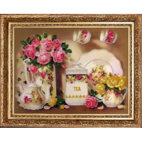 Набор для вышивания бисером Butterfly 269 Чайный сервиз фото