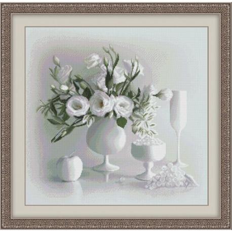 Набор для вышивки крестом Юнона 0104 Белый натюрморт фото