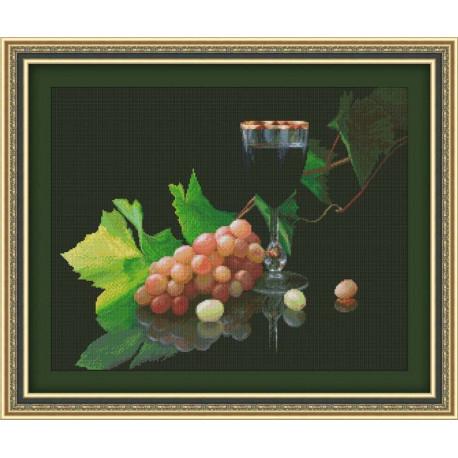 Набор для вышивки крестом Юнона 0124 Виноград и вино фото