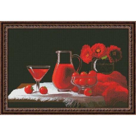 Набор для вышивки крестом Юнона 0115 Красный натюрморт фото