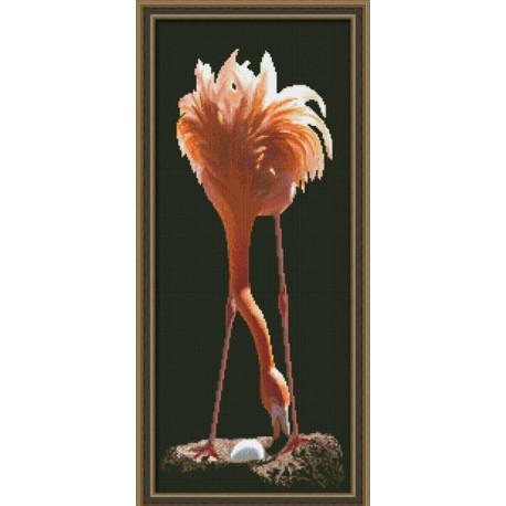 Набор для вышивки крестом Юнона 0121 Фламинго фото
