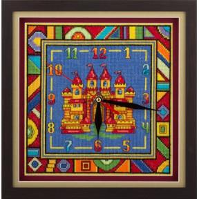 Набор для вышивки крестом Panna Ч-1562 Часы с замком фото