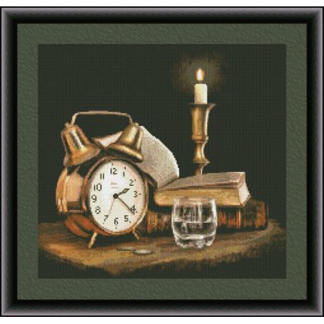 Набор для вышивки крестом Юнона 0209 Свеча и время фото